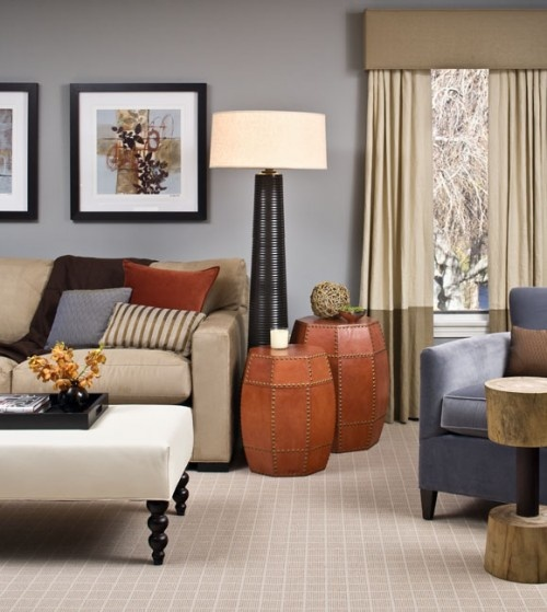modern, cornice boardWall Colors, Colors Combos, Living Rooms, Livingroom, Family Rooms, Modern Family, Colors Schemes, End Tables, Families Room