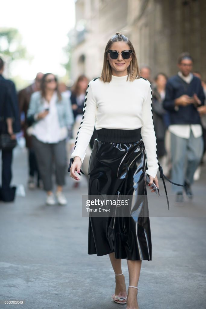 Olivia Palermo seen before the MSGM fashion show Milan Fashion Week Spring/Summer 2018 on September 24, 2017 in Milan, Italy. (Photo by Timur Emek/Getty Images)
