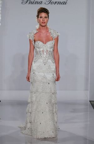 Sweetheart Sheath Wedding Dress  with Natural Waist in Beaded Lace. Bridal Gown Style Number:32611485