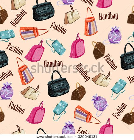 fashion woman handbags seamless pattern