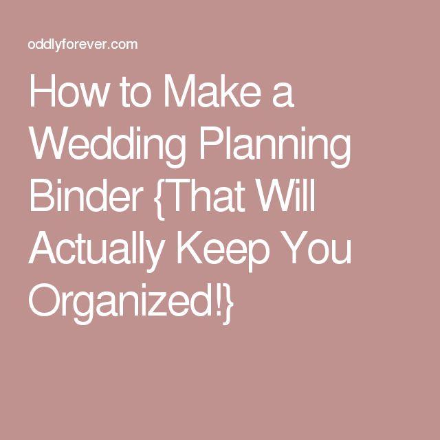 Best 25 Wedding Planning Binder Ideas On Pinterest