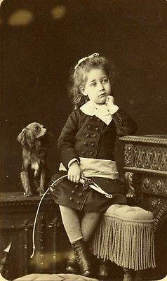 France Paris Children Toy Whisk Dog Old CDV Photo Walery 1875   eBay