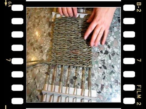 Плетение корзинки с квадратным дном.  Часть III. - YouTube