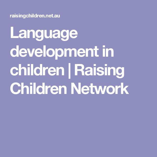 Language development in children | Raising Children Network