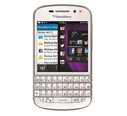 Blackberry Q10 SQN100-3 16GB Factory Unlocked GSM Smartphone w/ English + Arabic Keypad - White
