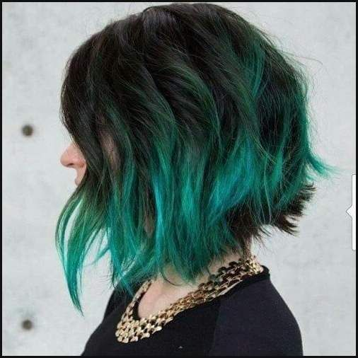 Die besten 25  Turquoise hair ombre Ideen auf Pinterest ...   Einfache Frisuren