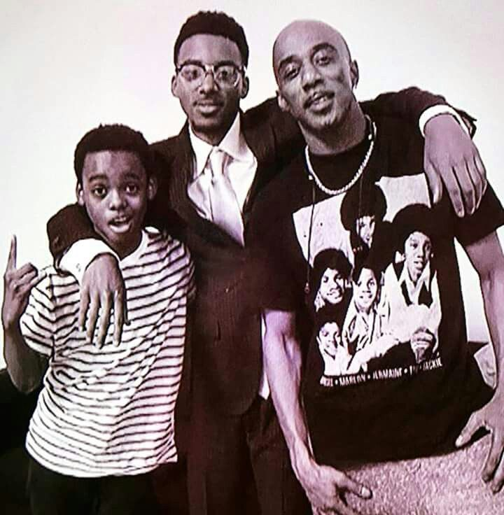 Ralph Tresvant with Jahi Winston (young Ralph) and Algee Smith  (older Ralph) in the New Edition Story!