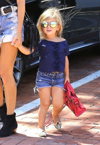 Penelope Disick is too cute. Kourtney's little girl was spotted out with her famous mum in Malibu
