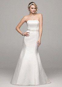 satin wedding dress trumpet