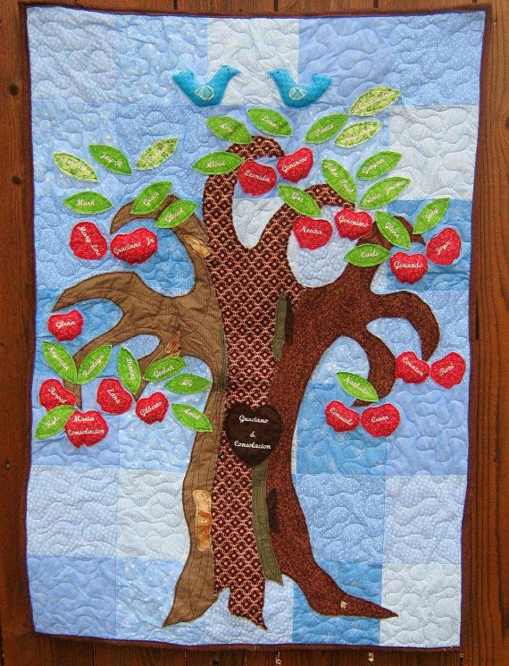 22 Best Images About Family Tree Quilt On Pinterest