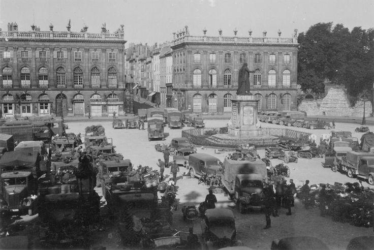 16/6/1940: German troops in Nancy, Stanislas square. #WW2