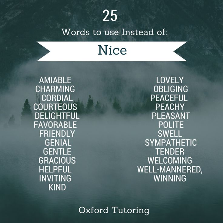 "25 Words to Use Instead of ""Nice"