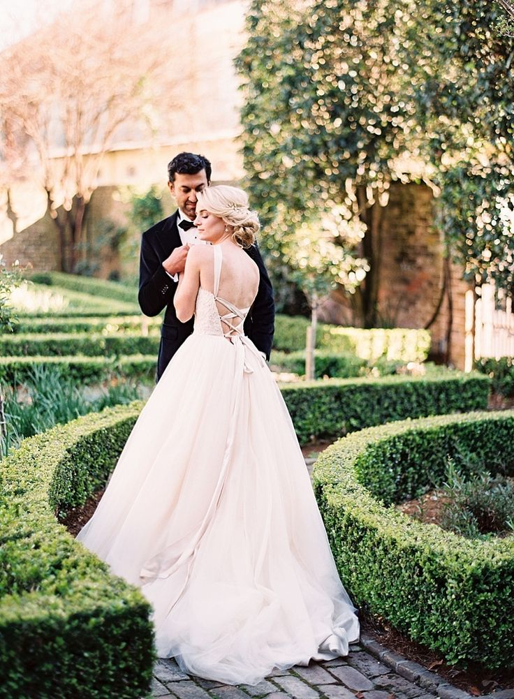 Wedding Dress: Modern Trousseau - http://www.moderntrousseau.com/portfolio_page/adore/ Photography: Marissa Lambert - marissalambertphotography.com   Read More on SMP: http://www.stylemepretty.com/2017/03/09/secret-rose-garden-wedding-styled-shoot/