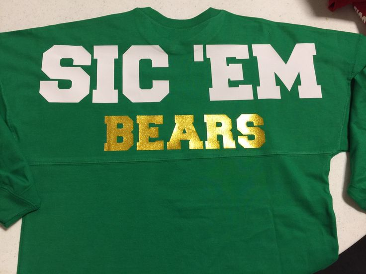 Baylor Bears Sic 'em Spirit Jersey,  Seth Russell, oversized, Fan Wear, Football, Green and Gold by CustomOutfittersNB on Etsy https://www.etsy.com/listing/221281508/baylor-bears-sic-em-spirit-jersey-seth