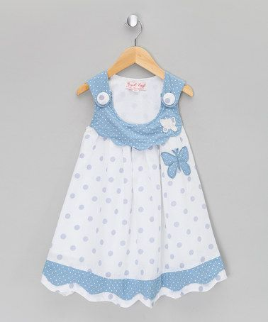 Take a look at this Honey Blue Butterfly Jumper  - Infant, Toddler & Girls by Powell Craft on #zulily today!