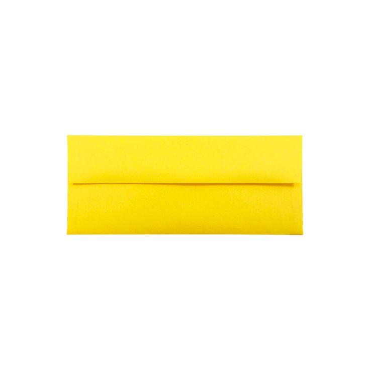 Jam Paper Brite Hue #10 Envelopes, 4 1/8 x 9 1/2, 50 per pack, Yellow