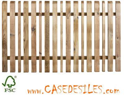 Clôture et barrière bois en Vente Flash : Clôture barrière bois lames alternées Oblik 436