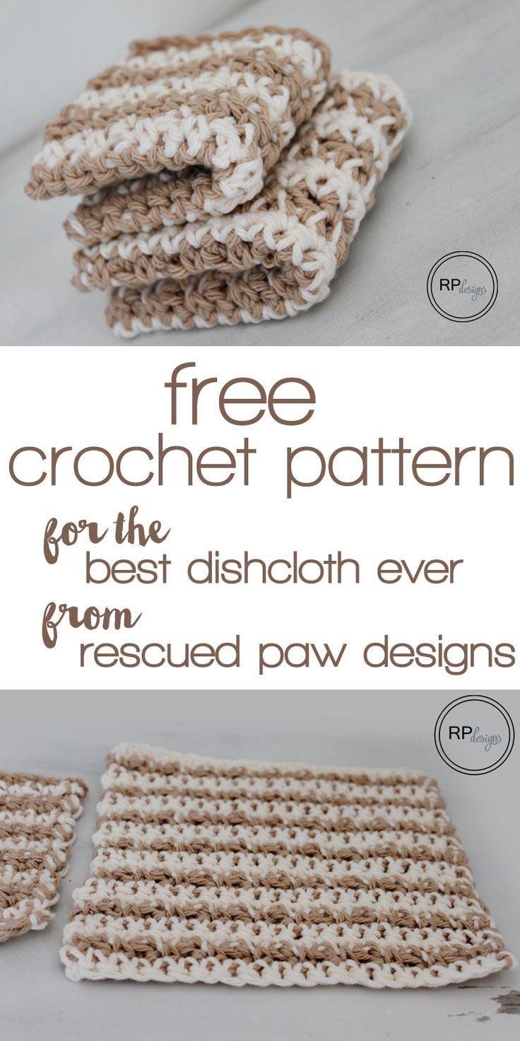 Delightful Dishcloth By Kersten - Free Crochet Pattern - (little ...