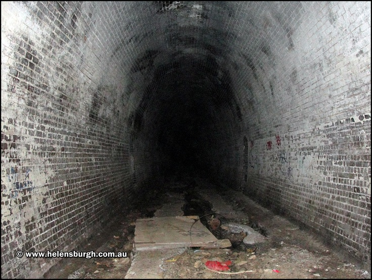 Deep inside the Otford Tunnel, NSW Australia.