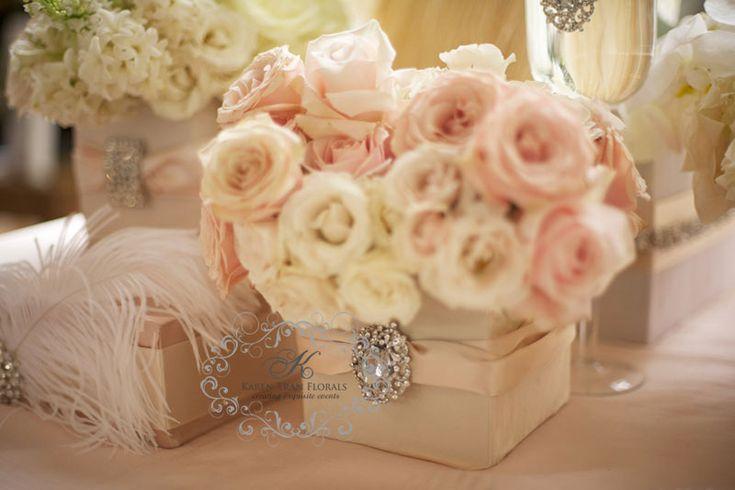 blush cream color with crystal embellshment