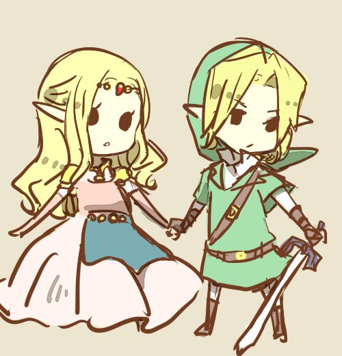 zelda and link, so adorable.