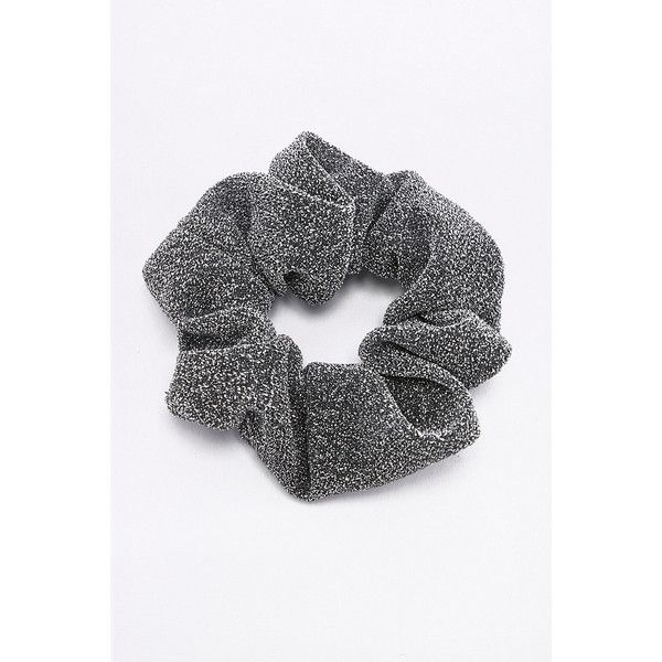 Lurex Scrunchie Hair Band (13 CAD) ❤ liked on Polyvore featuring accessories, hair accessories, silver, scrunchie hair accessories, headband hair accessories, head wrap headband, head wrap hair accessories and hair band headband