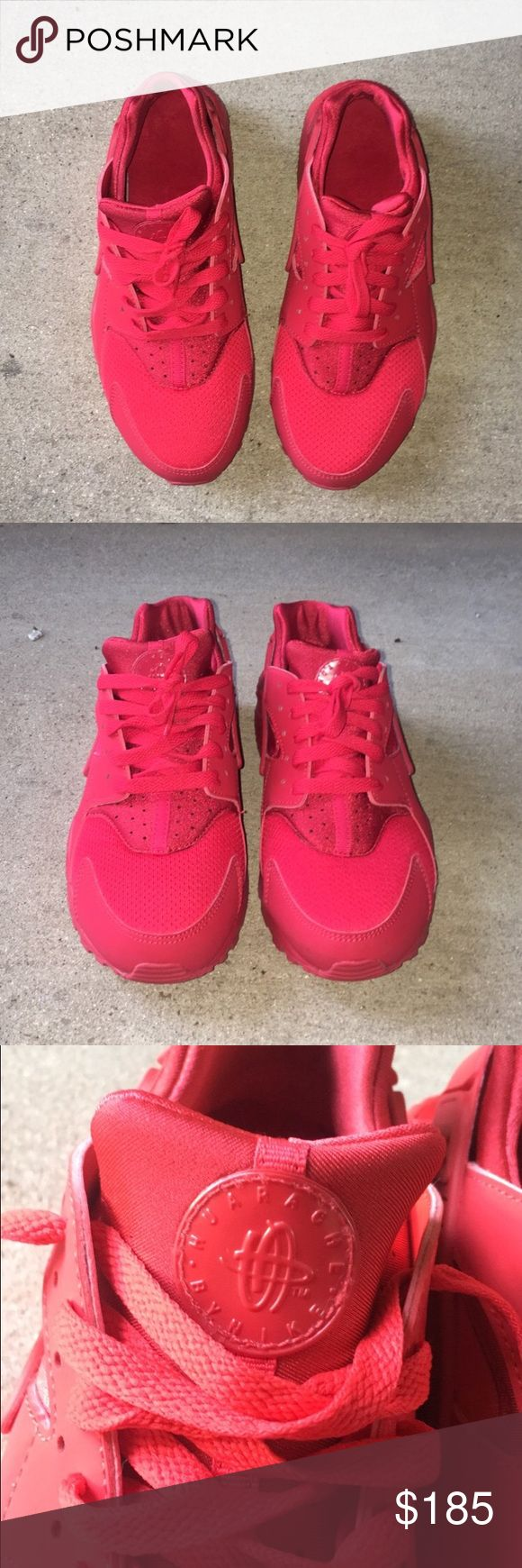 Brand new all red Nike huaraches