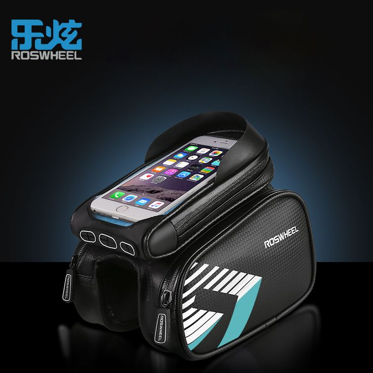 ROSWHEEL 2017 mtb bike bag bicycle front frame tube bag for 5.7 inch phone cycling bags accessories TPU carbon fiber waterproof * AliExpress Affiliate's Pin.  Click the VISIT button for detailed description on AliExpress website