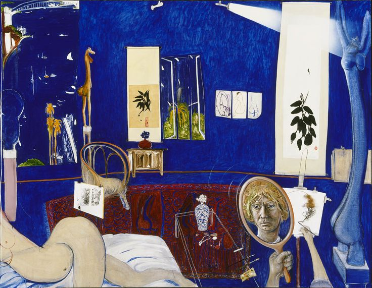 Self portrait in the studio 1976 Brett Whiteley