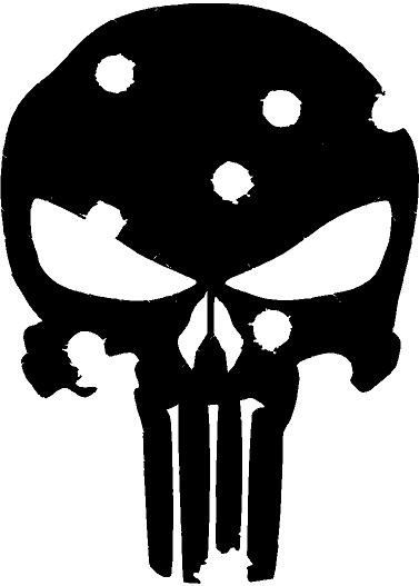 Punisher Skull Decal by OutlawGraphicsTN on Etsy