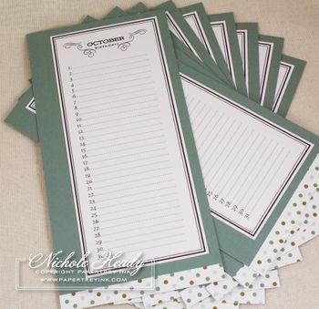 #printables for birthday calendar book
