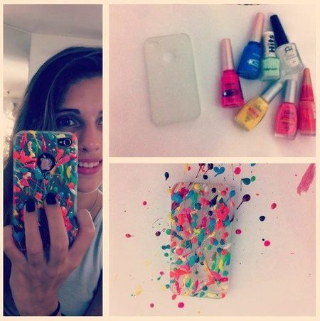 Iphone case with nail polish #howto #DIY #project - bellashoot.com