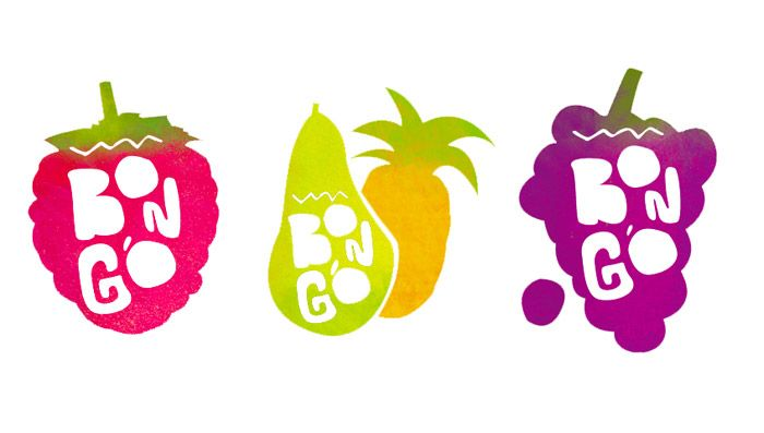 Bongo Juices - The Dieline - FUN!!! Colors are perfect fresh