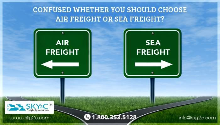Confused whether you should choose air freight or sea freight? Both, air and sea are commonly used by domestic as well as businesses, but sea freight system can be better for you. Curious why? Ask Sky2C today.