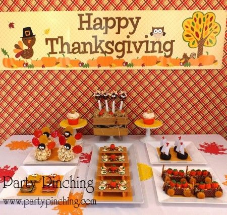 kid dessert table thanksgiving