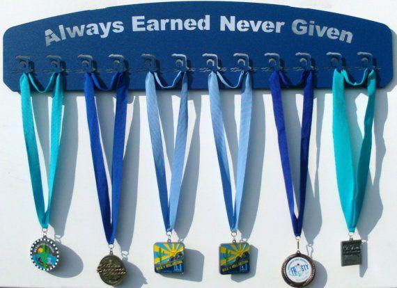 Medal Display for a Swimmer / Medal hanger, medal holder for swimming ribbons
