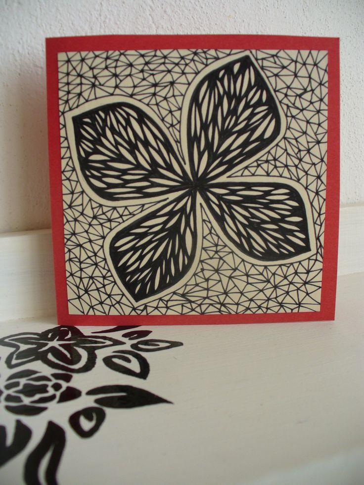 Motýl otevírací přání, 10x10 cm ručně malované