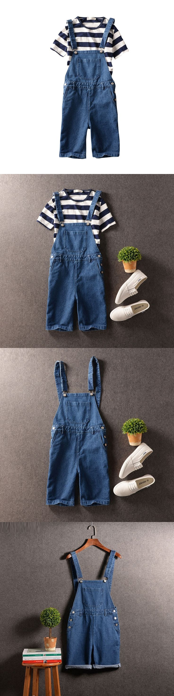 2016 New Jeans Jumpsuits For Men Denim Overalls Men Blue Jean Shorts Denim Bib Overall Shorts For Men