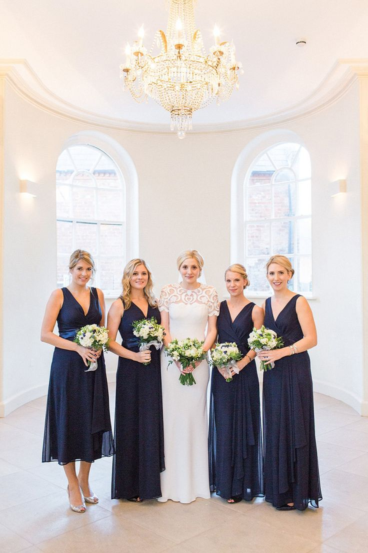 153 best navy blue bridesmaid dresses images on pinterest navy an elegant and backless david fielden dress for an autumn wedding at iscoyd park dark blue bridesmaid ombrellifo Image collections