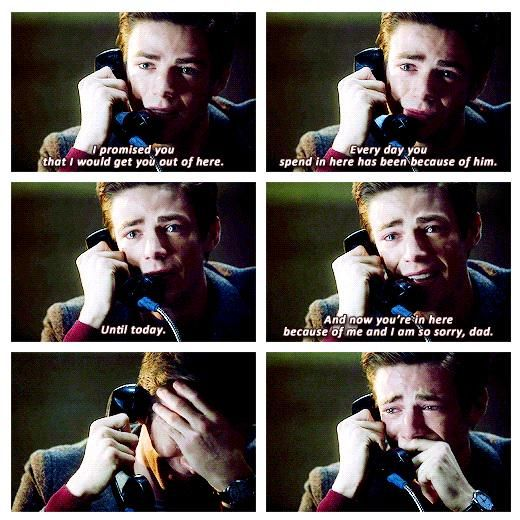 The Flash - Barry Allen #1.9 #Season1  NO NO NO I CANNOT TAKE HIM CRYING! WHEN HE CRIES I CRY! BLGJSLFSDJAF:AF