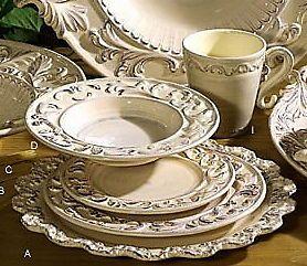 Tuscan Horchow Cream Dinnerware 16 pc. Set