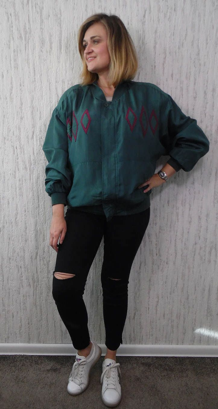 Vintage Silk and More Bomber Jacket by SweetSpicyVintage on Etsy
