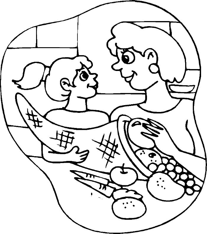 mother daughter coloring pages - photo#27