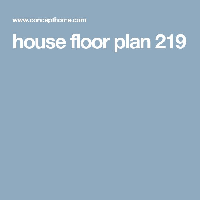 house floor plan 219