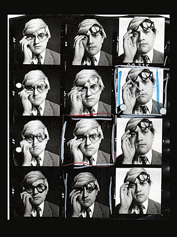 60′s Black and White Contact Sheets by David Bailey - David Hockney