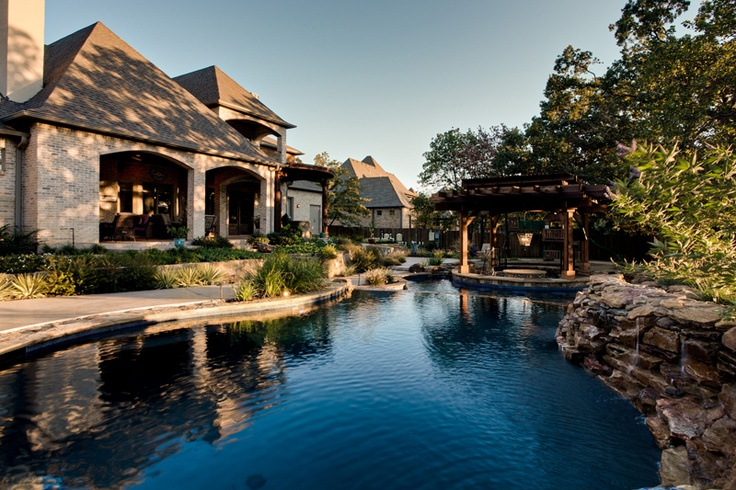 Luxury Free Form Swimming Pool By One Specialty Pools Southlake Tx Luxury Swimming Pools