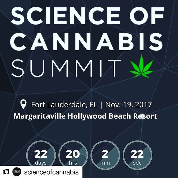 Credit to @scienceofcannabis  22 days 20 hours and 2 minutes to the @ScienceOfCannabis Summit!  Are you registered yet?  See what's coming and get tickets for you and a friend at ScienceOfCannabis.com  #scienceofcannabis #marijuana #cannabis #mmj     #HollywoodTapFL #HollywoodFL #HollywoodBeach #DowntownHollywood #HardRockHolly #Miami #FortLauderdale #FtLauderdale #Dania #Davie #DaniaBeach #Aventura #Hallandale #HallandaleBeach #PembrokePines  #Miramar #CooperCity #Plantation #SunnyIsles…