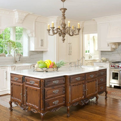 Antique Kitchen IslandDecor Ideas, Dreams Kitchens, Kitchens Design, Traditional Kitchens, Luxury Kitchens, French Country, Kitchens Islands, Traditional Home, Kitchens Photos