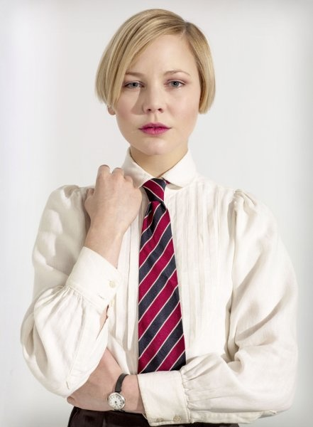 Adelaide Clemens - Parade's End. - gotta find some vintage patterns that I can modify to make this blouse!