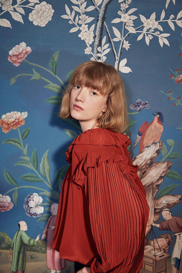 アカ、テラコッタ系のトップス my favorite fashion week looks so far & why i love them so much! — get more style inspiration on jojotastic.com